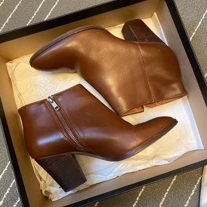 J. CREW - Ankle Laine Boots - Chester Brown
